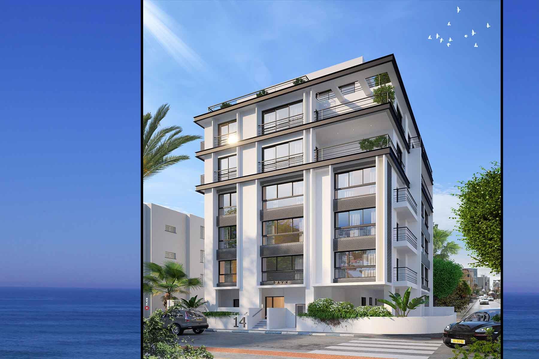 'Apartments / Flats' building or community at 'Exquisite New Development Near The Sea Hayarkon 14 Tel Aviv, Israel 6801111 Israel'