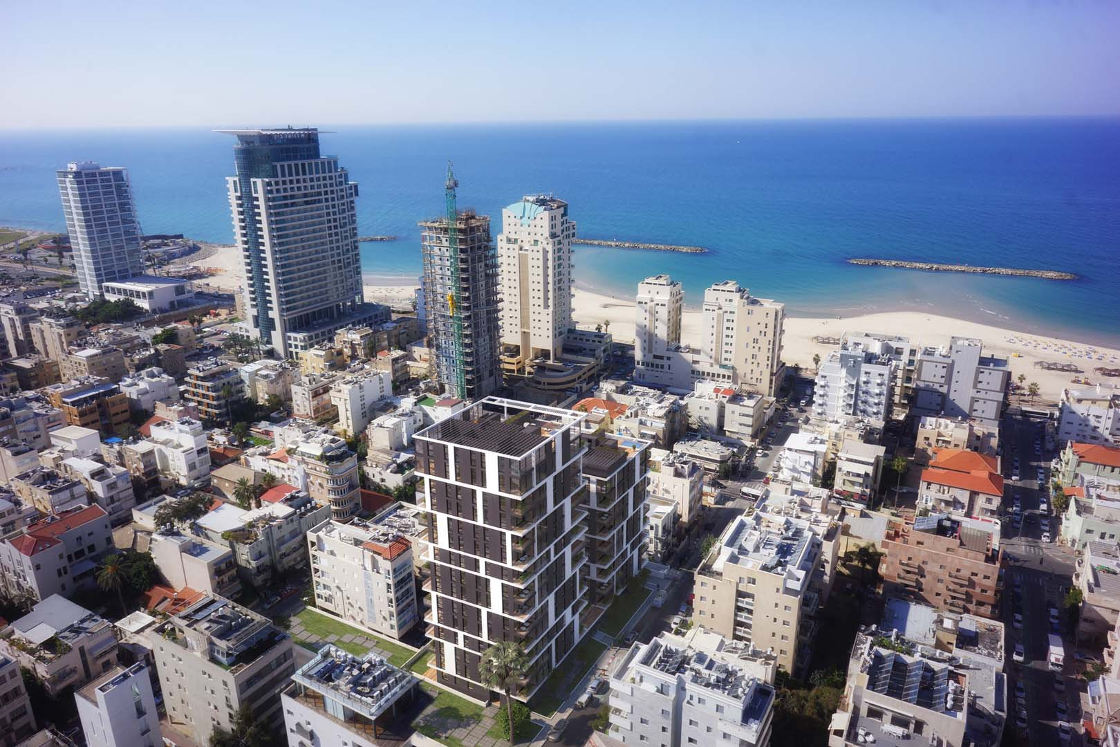 'Apartments / Flats' building or community at 'Serene Sea View Apartments in a New Project Living by the Sea Tel Aviv, Israel 6380810 Israel'