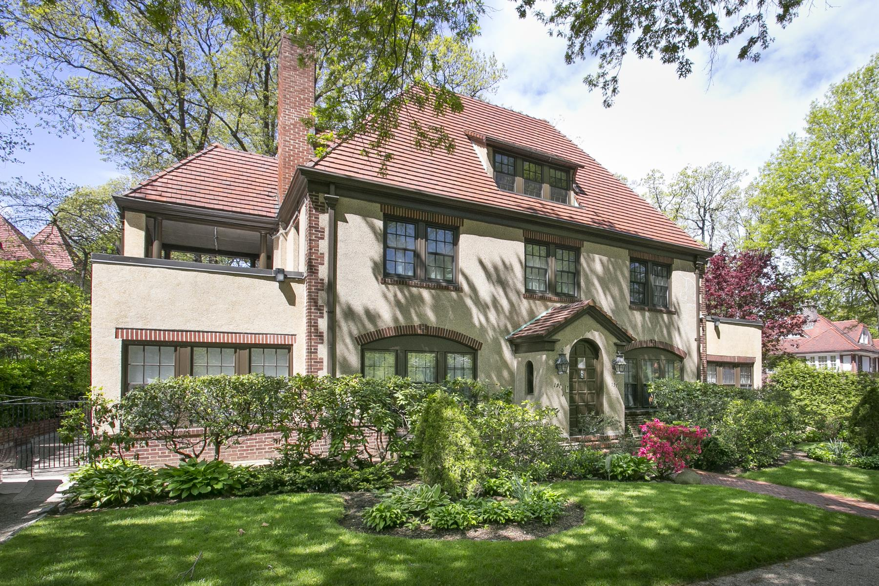 """Single Family Homes for Sale at """"ELEGANT EMBASSY ROW COLONIAL"""" 191 Greenway North, Forest Hills Gardens, Queens, New York 11375 United States"""