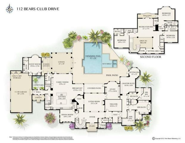 Maison unifamiliale pour l Vente à The Bear's Club Jupiter, Florida,33477 États-Unis