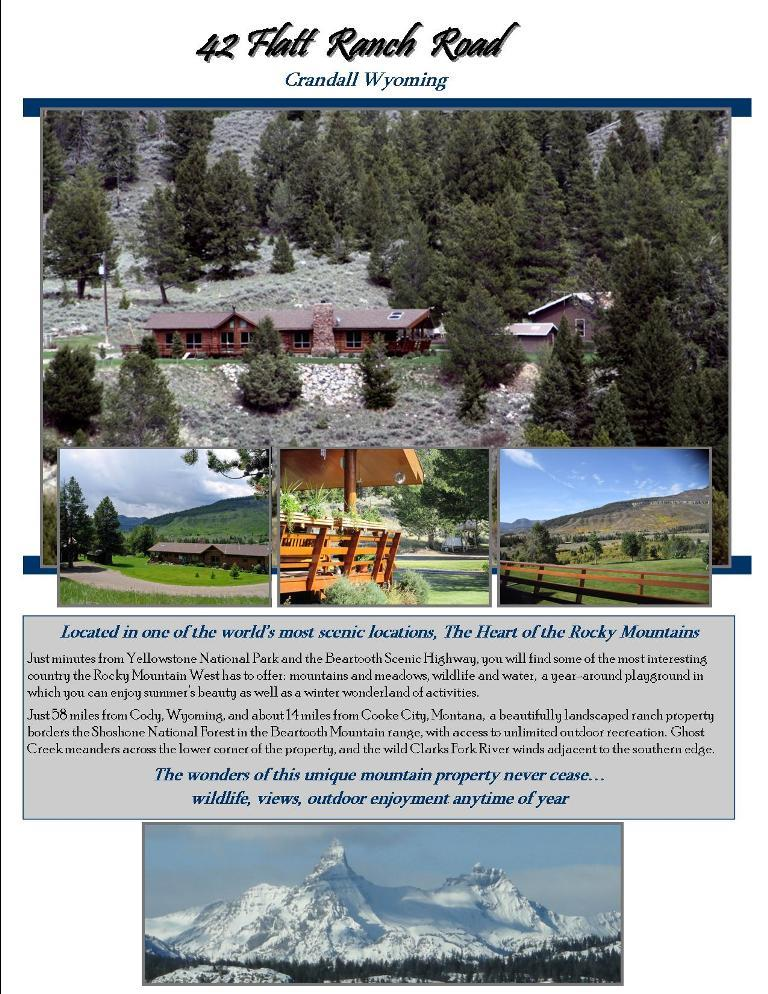 Single Family Home for Sale at 42 Flatt Ranch Rd Cody, Wyoming 82414 United States